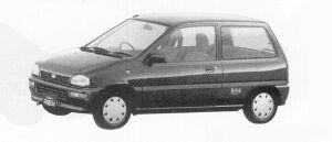 Subaru REX 3DOOR SEDAN  FERIA II  ECVT 1991 г.