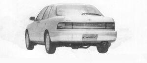 Toyota Camry SEDAN FULLTIME 4WD 2000ZX 1991 г.
