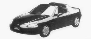 Honda CR-X DELSOL SiR 1996 г.